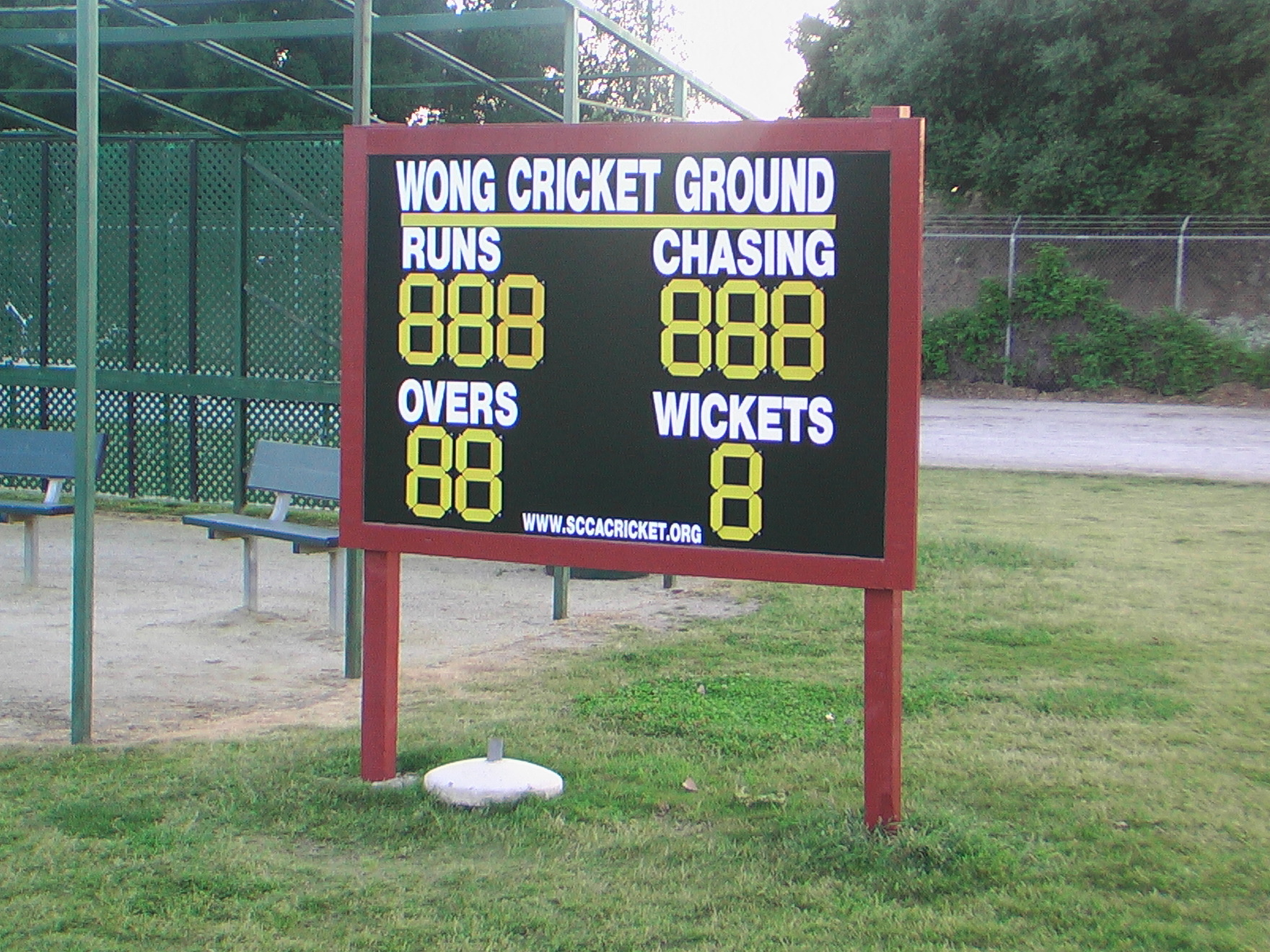 custom cricket scoreboard