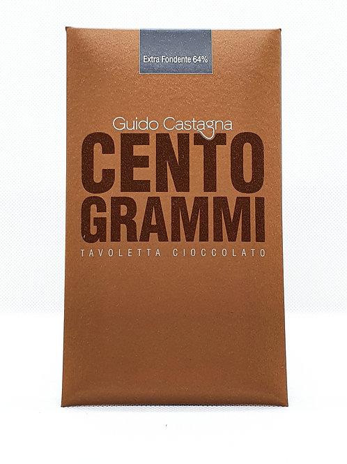 Tavoletta di Cioccolato Extra Fondente 64% CENTOGRAMMI