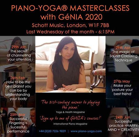 Piano-Yoga Masterclasses 2020