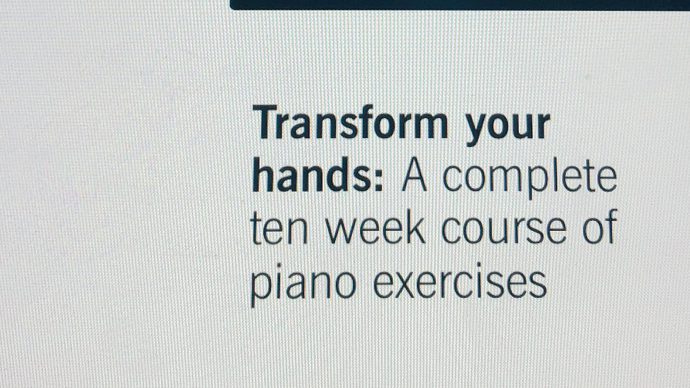 GéNIA: Piano-Yoga® Transform Your Hands 10 week course of playing the piano
