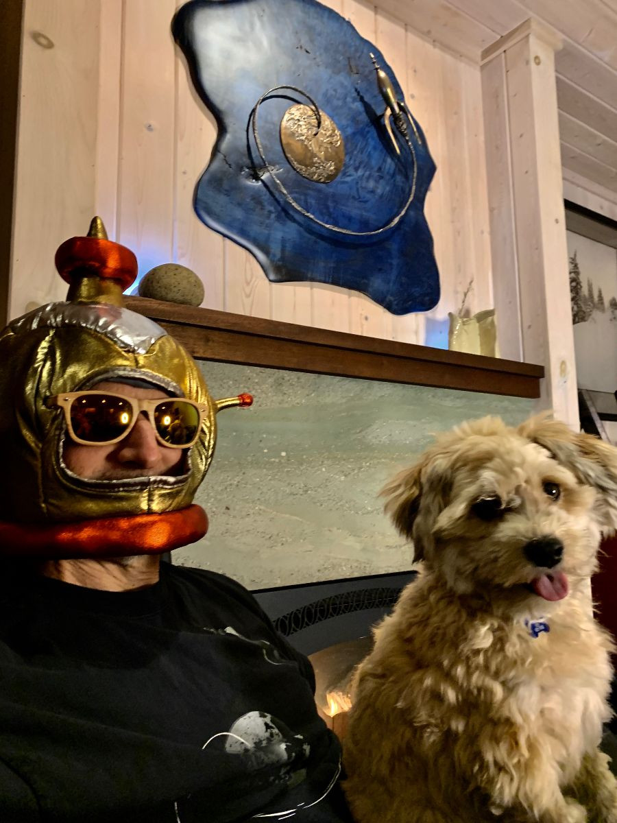 Sit back, relax and enjoy your Escape From Gravity holiday, featuring your irrepressible guide to Aerospace, Art and Adventure:Erik Lindbergh and his wookie translator Nanu.