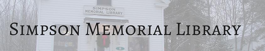 Simpson Memorial Library, Carmel, Maine