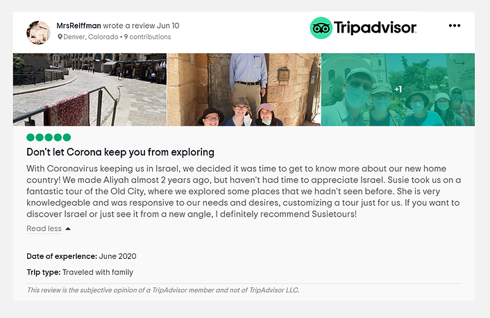 Reiffman recommendation on tripadvisor.p