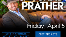 Chad Prather Live on Stage at the Grove Anaheim  Friday April 5th 8:00pm