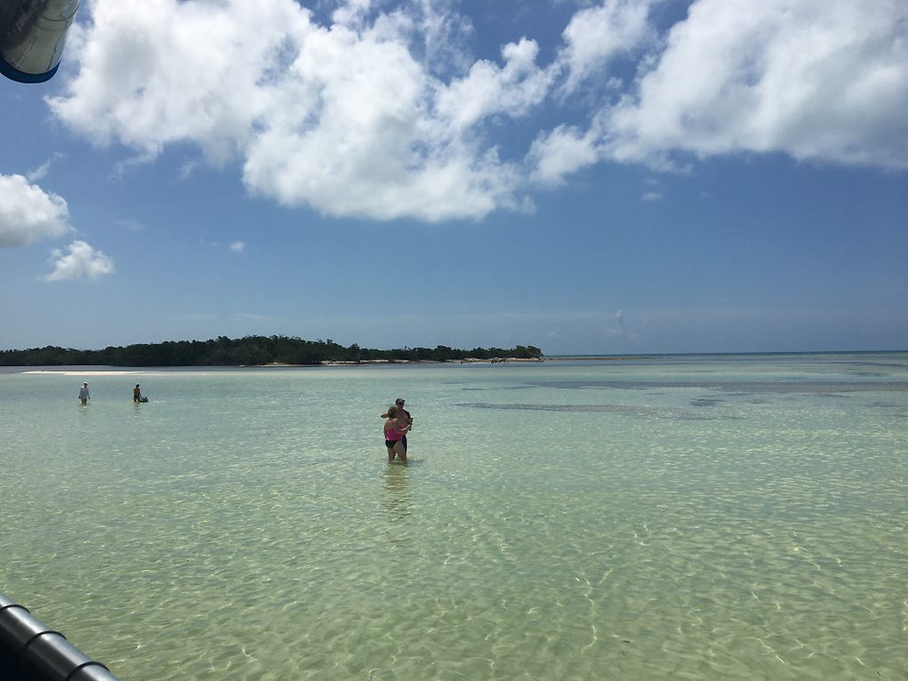 Low-tide sandbar hangouts