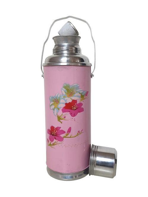 Thermoskan roze kleine bloem
