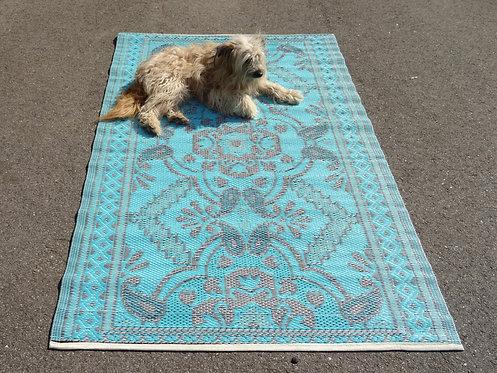 plastic vloerkleed 120x180 cm 4 kleur blauw