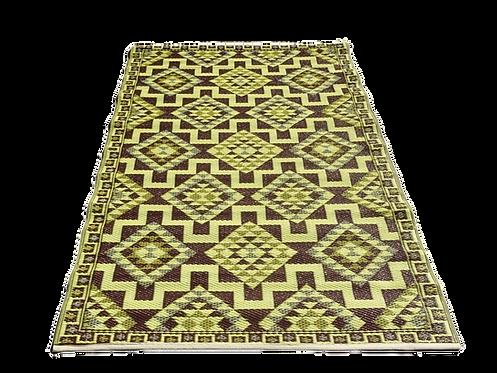 Plastic vloerkleed 120x180 coffee aztec
