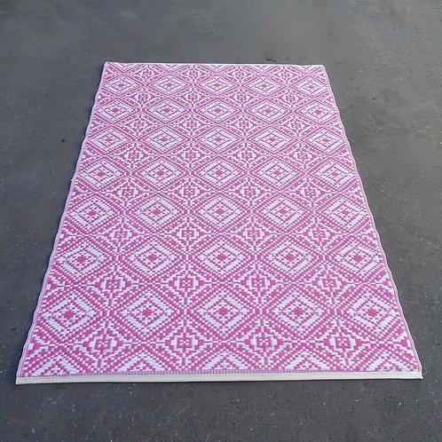 Plastic vloerkleed 120x180 cm roze
