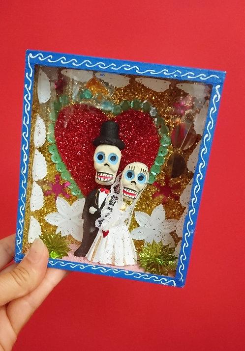 Kijkkastje dag van de dood bruidspaar
