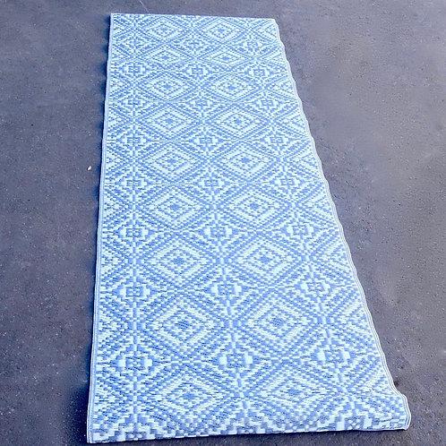 Plastic vloerkleed 75x240 cm zilver