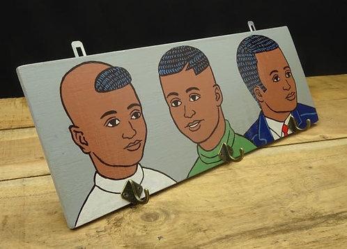 Kapstokje African boys grijs
