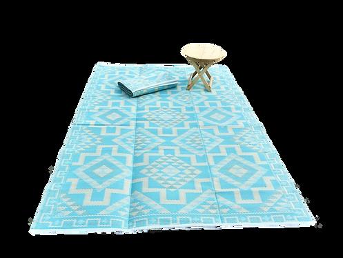 Plastic vloerkleed 180x270 cm aqua aztec