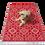 Thumbnail: Plastic vloerkleed 120x180 cm rood aztec