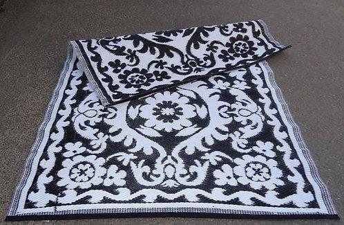plastic vloerkleed 120x180 zwart/wit