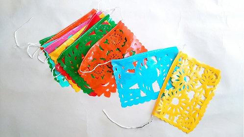 plastic vlaggetjesslinger rechthoek small