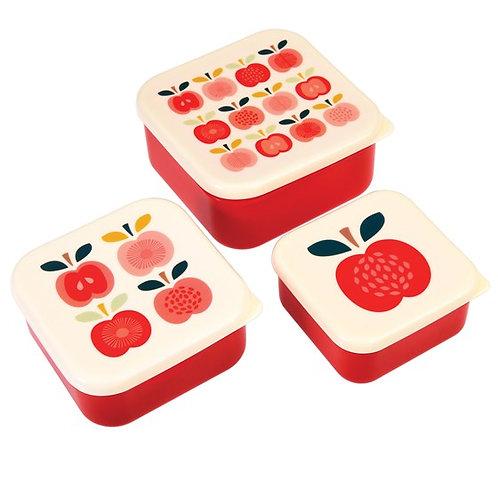 Set van 3 snackdoosjes vintage apple