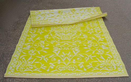 plastic vloerkleed 120x180 cm geel