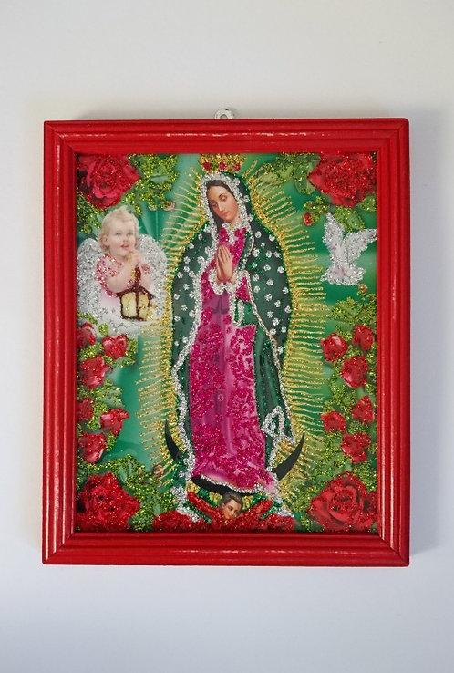Schilderij guadalupe rood