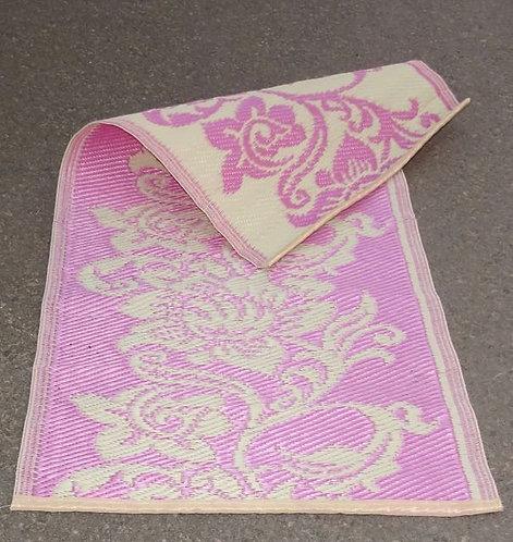 plastic vloerkleed 60x120 cm roze