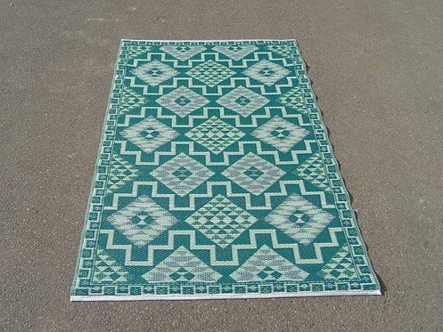 vloerkleed 120x180 cm groen aztec