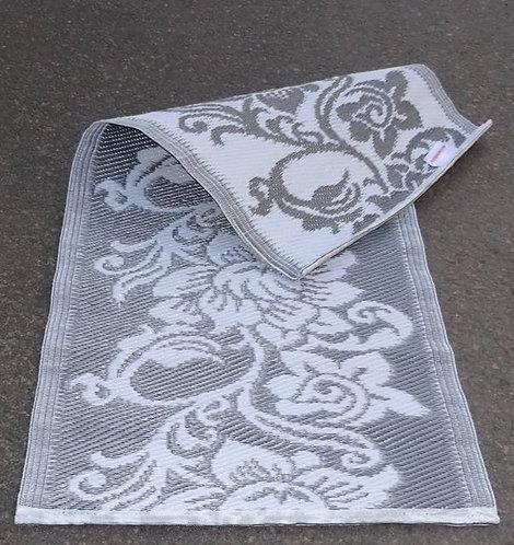 plastic vloerkleed 60x120cm zilver