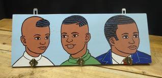 Kapstokje African boys lichtblauw