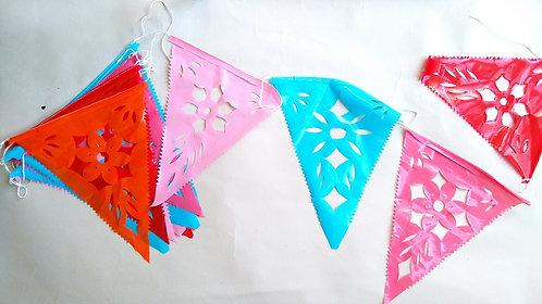 plastic vlaggetjesslinger driehoek