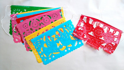 plastic vlaggetjesslinger rechthoek medium