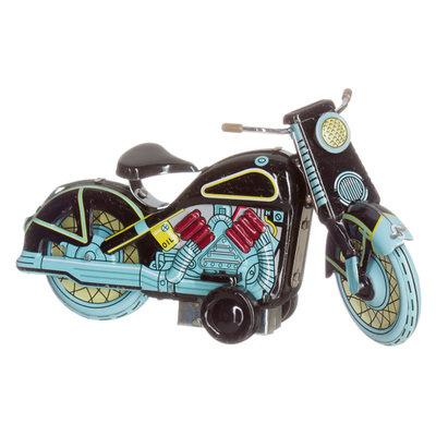 blikken motorfiets Harley in zwart