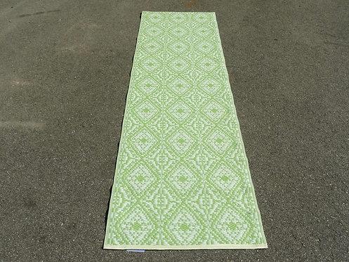 Plastic vloerkleed 75x240 cm olijfgroen