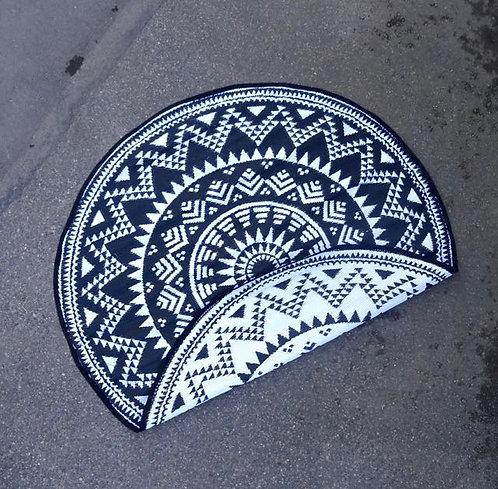 Plastic vloerkleed 180cm rond