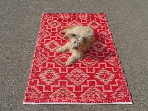 vloerkleed 120x180 cm rood aztec