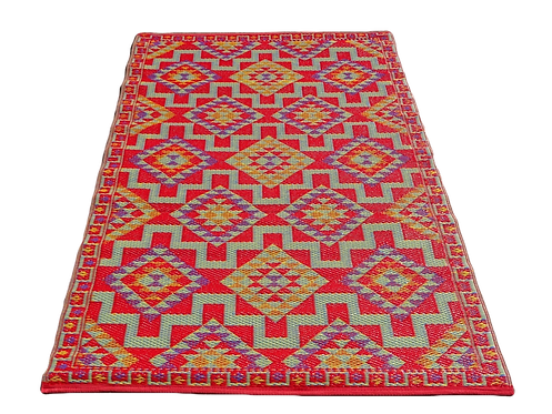 Plastic vloerkleed 120x180 multi aztec