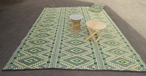 Plastic vloerkleed 270x360 cm groen/geel