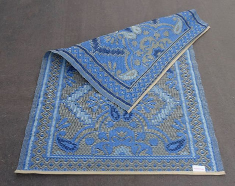 plastic vloerkleed 120x180 cm 4kleur blauw