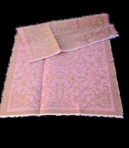 Plastic vloerkleed 180x270 cm oud roze