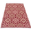Thumbnail: Plastic vloerkleed 120x180 cm donkerrood aztec