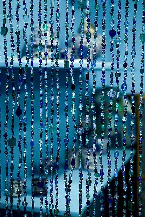 Kralengordijn blauw
