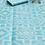 Thumbnail: Plastic vloerkleed 180x270 cm aqua aztec