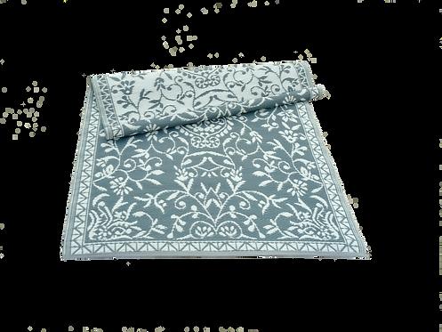 Plastic vloerkleed 120x180 cm grijs