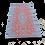 Thumbnail: Plastic vloerkleed 90x180 cm aqua/roest