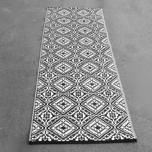 Plastic vloerkleed 75x240 cm zwart