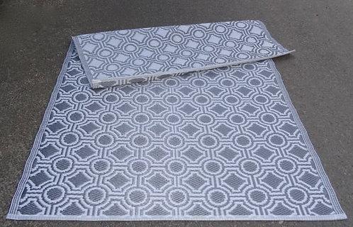 plastic vloerkleed 120x180 cm zilver