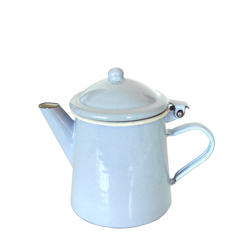 koffiepotje emaille pastel blauw