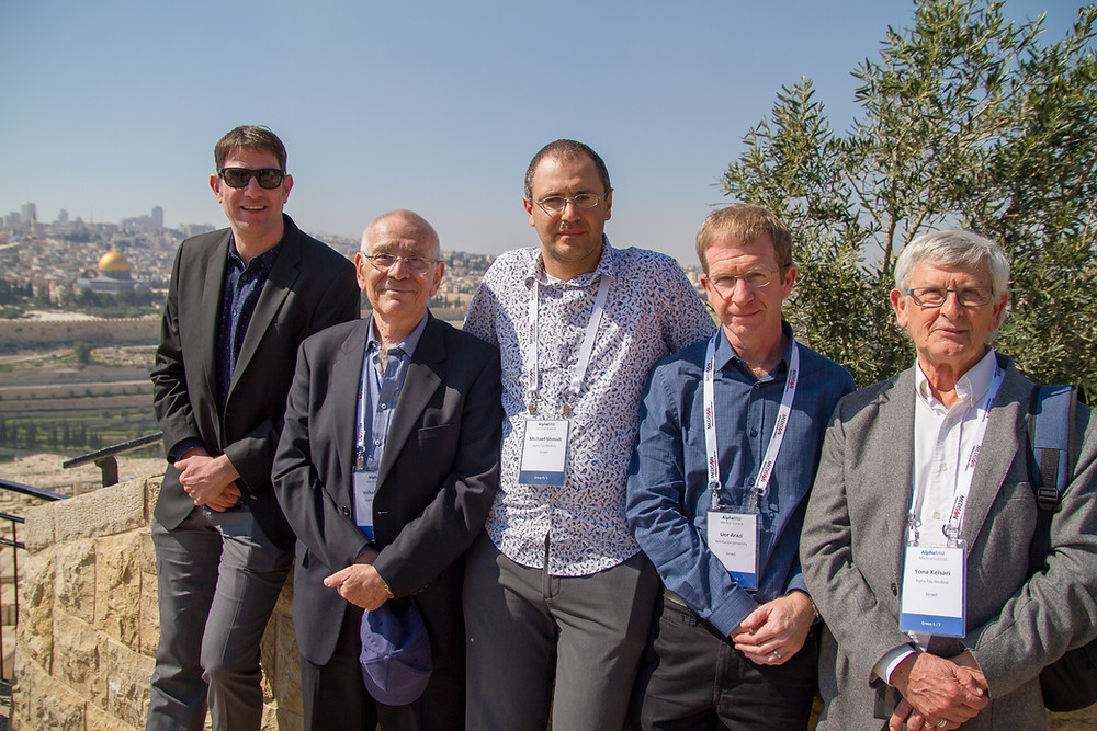 The DaRT research team from left to right: Dr. Tomer Cooks, Prof. Itzhak Kelson, Dr. Michael Schmidt, Dr. Lior Arazi, Prof. Yona Keisari