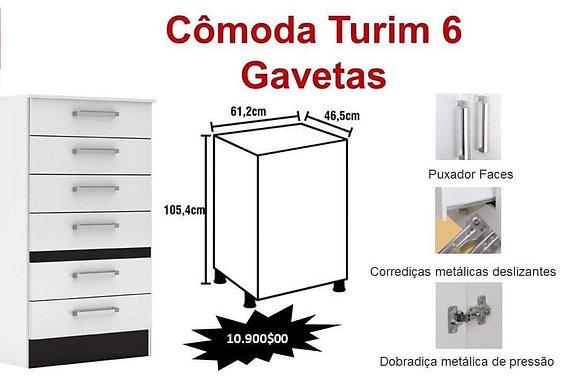Cómoda Turim 6 Gavetas
