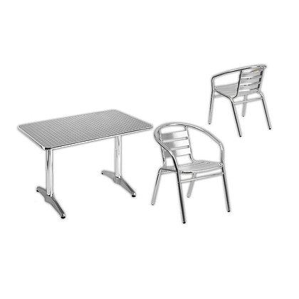 Mesa e Cadeira em Alumínio