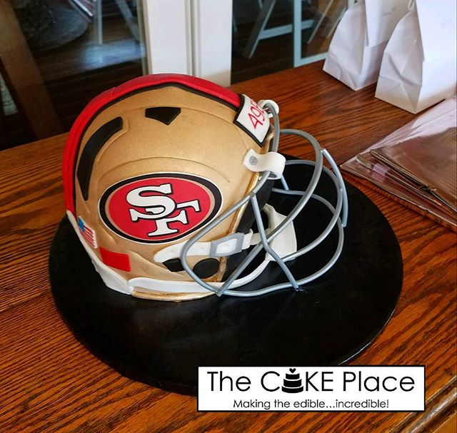 Groom's cake! #edibleart #49ers #thecakeplaceavon #weddingcakes