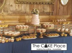 Congratulations Erika & Eric ❤ #edibleart #thecakeplaceavon #desserttable #weddingcakes